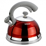 Чайник для плиты Vitesse VS-1116, Красный, купить за 2 150руб.
