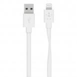 кабель / переходник для телефона Belkin Mixit Flat Lightning-USB для Apple, белый