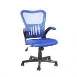 компьютерное кресло COLLEGE HLC-0658F (ткань, сетчатый акрил, синее)