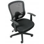 компьютерное кресло COLLEGE HLC-0420-1C-1 (ткань, сетчатый акрил, чёрное)