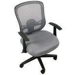 компьютерное кресло COLLEGE HLC-0420-1C-1 (ткань, сетчатый акрил, серое)