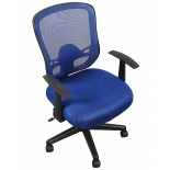 компьютерное кресло COLLEGE HLC-0420-1C-1 (ткань, сетчатый акрил, синее)