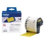 лента для печати наклеек Brother DK44605 (62 мм x 30,48 м), желтый