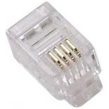 коннектор телефонный Vcom RJ-11 6P4C (VTE7716)