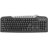 клавиатура Defender HB-830 RU черная