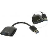 USB-концентратор Hama 54132, черный