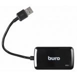 USB-концентратор Buro BU-HUB4-U3.0-S, черный