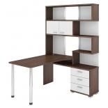 мебель компьютерная Мэрдэс СР-420-150 ШБЕШ-ПРАВ Шамони, Белый жемчуг, Шамони