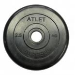 диск для штанги MB Barbel Atlet (MB-AtletB31-2,5), Черный