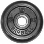 диск для штанги MB Barbell (MB-PltB51-1,25), Черный