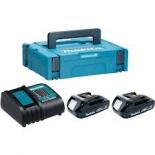 аккумулятор к инструментам Makita Набор 197143-8 (BL1815N 2 шт и  DC18SD зарядное устройсво)