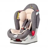 автокресло детское Liko Baby LB 510, серое/лен