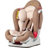 автокресло детское Liko Baby LB 510, коричневое- лен