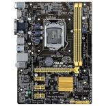 материнская плата ASUS H81M PLUS Soc-1150 H81 DDRIII mATX SATA3  LAN-Gbt USB3.0
