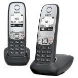 радиотелефон Gigaset A415 DUO, Чёрный