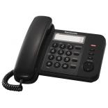 проводной телефон Panasonic KX-TS2352RUB, Чёрный
