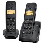 радиотелефон Gigaset A120 DUO Чёрный