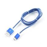 кабель / переходник для телефона Gembird USB 2.0 Cablexpert 1м (CCB-mUSBb1m) синий металлик
