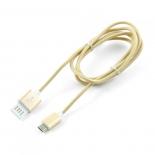 кабель / переходник Gembird USB 2.0 Cablexpert 1м (CCB-mUSBgd1m) золотой металлик