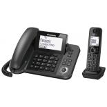 радиотелефон Panasonic KX-TGF310RUM, чёрный металлик