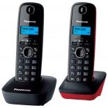 радиотелефон Panasonic KX-TG1612RU3 темно-серый с красным