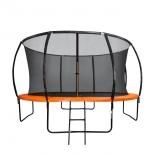 батут спортивный DFC Trampoline Kengoo 14FT-TR-E-BAS, оранжевый-черный