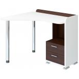 стол компьютерный Мэрдэс СКМ-55 БЕВ-Лев, белый жемчуг-венге
