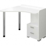 стол компьютерный Мэрдэс СКМ-55 (Левый), Белый жемчуг