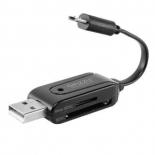 устройство для чтения карт памяти Ginzzu GR-585UB черный
