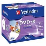 Оптический диск Verbatim DVD-R Printable 43508 (10 шт)