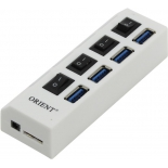 USB-концентратор Orient BC-307PS, белый