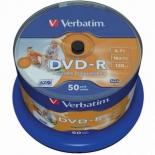 оптический диск Verbatim DVD-R Printable 43533 (50 шт)