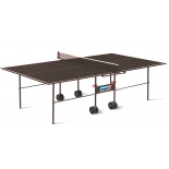 стол теннисный Start Line Olympic Outdoor с сеткой коричневый