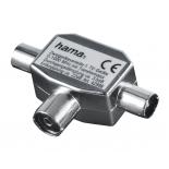разветвитель для ТВ-кабеля Hama H-42998 (на 2 ТВ, коаксиальный)