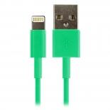 зарядное устройство Дата-кабель Smartbuy USB - 8-pin для Apple, цветные, длина 1,2 м, зеленый (iK-512c green)/500