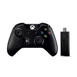 геймпад Xbox One Microsoft + Wireless Adapter for Windows 10 чёрный