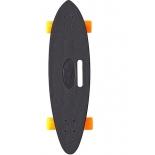 скейтборд Y-Scoo Longboard Shark (409-B) черно-оранжевый