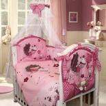 комплект постельного белья Золотой Гусь Ёжик Топа-Топ  (в люльку), розовый