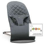 детское кресло-шезлонг BabyBjorn Balance Bliss 21, антрацитовый (с игрушкой)