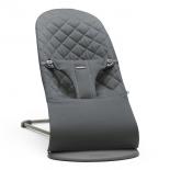 детское кресло-шезлонг BabyBjorn Bliss Cotton (антрацитовый)