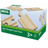 набор игровой для игры на улице Brio короткие прямые рельсы (железная дорога)