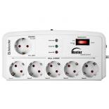 сетевой фильтр Defender DFS 805 Master-Slave control, 6 розеток, 5 м, белый