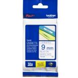лента для печати наклеек Brother TZ-E223 9mm Blue/White