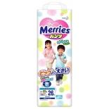 подгузник Merries XXL 15-28 кг, ночные, (26 шт.) трусики
