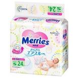 подгузник Merries 4-8 кг  (24 шт) S