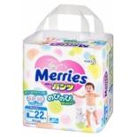 подгузник Merries 9-14 кг (22 шт) L, трусики