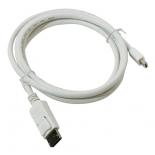 кабель (шнур) Telecom  DisplayPort - miniDisplayPort, M/M (TA681), 1.8 м, белый