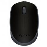 мышка Logitech M171, беспроводная, USB, чёрная