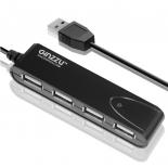 USB-концентратор Ginzzu GR-424UB черный