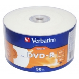 оптический диск Verbatim DVD-R DataLife Inkjet Printable, Shrink (50 шт)